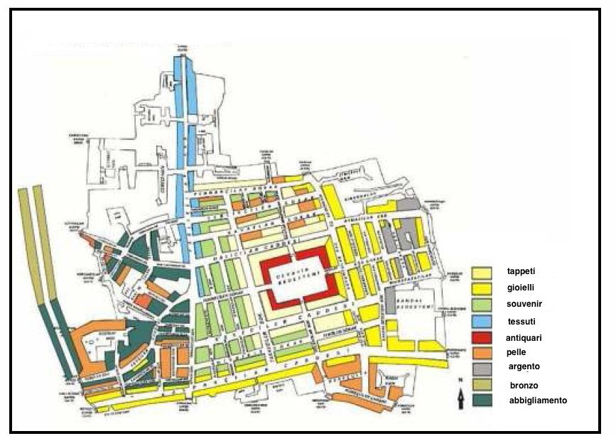 mappa gran bazar