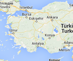 Turchia Mappa